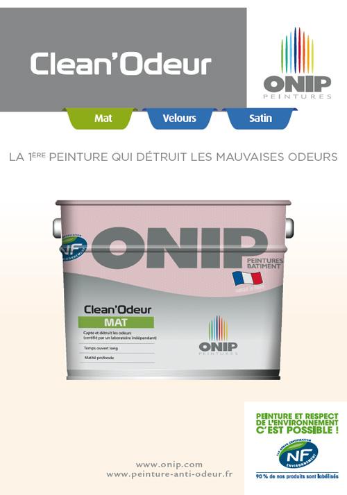 Peinture Anti Odeur - Clean'Odeur Onip